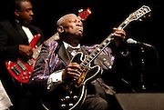 IMAGES ARE NOT PUBLIC DOMAIN..ALL IMAGES ©SUZI ALTMAN. CALL FOR USE, LICENSE OR PRINTS. CELL 601-668-9611 OR EMAIL SUZISNAPS@AOL.COM.BB King Museum edit for films.(Photo/© Suzi Altman) Indianola Mississippi- Multi Grammy winner and legendary blues guitarist B.B. King plays his hometown crowd outside his museum the  B.B. King Delta Interpretive Center and Museum. Photo© Suzi Altman