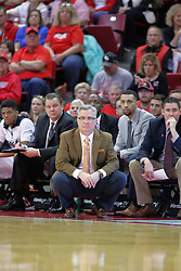 22 February 2017:  Barry Hinson during a College MVC (Missouri Valley conference) mens basketball game between the Southern Illinois Salukis and Illinois State Redbirds in  Redbird Arena, Normal IL