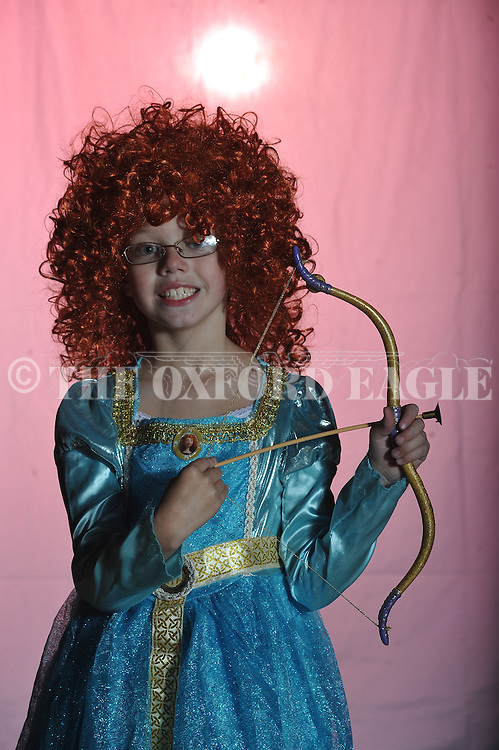 Audrey Robinson poses on Halloween in Oxford, Miss. on Wednesday, October 31, 2012.
