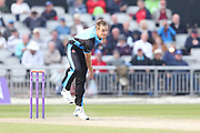 Worcestershire's Charlie Morris  during the Royal London 1 Day Cup match between Lancashire County Cricket Club and Worcestershire County Cricket Club at the Emirates, Old Trafford, Manchester, United Kingdom on 17 April 2019.