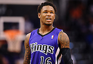 Nov 20, 2013; Phoenix, AZ, USA; Sacramento Kings guard Ben McLemore (16) in action against the Phoenix Suns in the first half at US Airways Center. The Kings defeated the Suns 113-106. Mandatory Credit: Jennifer Stewart-USA TODAY Sports