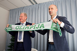 Milan Mandaric and Ilija Stolica at presentation of new head coach of NK Olimpija Ljubljana, on June 12, 2018 in Ljubljana, Slovenia. Photo by Urban Urbanc / Sportida