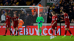 WOLVERHAMPTON, ENGLAND - Monday, January 7, 2019: Liverpool's goalkeeper Simon Mignolet looks dejected as Wolverhampton Wanderers scored a goal during the FA Cup 3rd Round match between Wolverhampton Wanderers FC and Liverpool FC at Molineux Stadium. (Pic by David Rawcliffe/Propaganda)