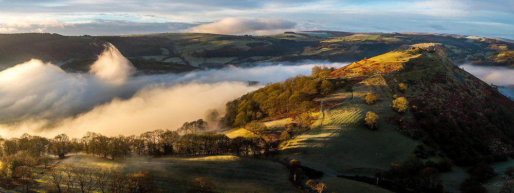 Dinas Bran castle at dawn, Llangollen, wales