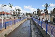 Nahariya the northernmost coastal city in Israel, Established 1935. The Ga'aton stream
