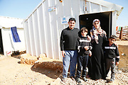 Nemer and his family fled from Syria in 2015. They are now in the Azraq refugee camp, about 30 miles from the border in the Jordanian desert. <br /> <br /> Nemer explains what happened to them: &quot;On the 31st of October, at approximately 9 at night, our neighbourhood was shelled&quot;, he says.<br /> <br /> &quot;Most of us were asleep at the time. We went out to see what was going on. We saw explosions. It was very frightening.<br /> <br /> &quot;Everyone decided that we had to leave right then.<br /> <br /> &quot;We took the children and we left with nothing. Without clothes, without anything. We fled towards the desert.<br /> <br /> &quot;We walked for approximately 30 kilometres and then a car came along and gave us a lift. We spent two days on the road towards the Jordanian border. We found shelter at the border. <br /> <br /> &quot;We didn&rsquo;t know what to expect when we first came here. We didn&rsquo;t know this is how the accommodation was going to be.<br /> <br /> &quot;We received furniture, blankets, kitchen utensils, lights and a heater. We receive periodical packages of foodstuffs and some financial assistance as well.<br /> <br /> &quot;The most important thing is our children&rsquo;s education. For the kids to go back to school and for the situation to get better. They can go to school every day here. <br /> <br /> &quot;We were in a really bad situation before. At least here we are safe.&quot;<br /> <br /> His wife adds, &quot;Winter clothing was the priority for the family, for our children and us to stay safe and warm.<br /> <br /> &quot;Then school and education for the children and jobs for my husband and me.<br /> <br /> &quot;We don&rsquo;t know what the situation is in Syria at the moment. &quot;<br /> <br /> &quot;But we do hope to go back home to our families one day.&quot;<br /> <br /> Nemer and his family have been supported by UNHCR, the UN refugee agency, and other agencies.<br /> <br /> The UK provides funding towards UNHCR's work in Jordan to give shelter, relief items and protection services to those most in need. UK support to UNHCR Jordan in 2016/17 totalled &pound;8.5 million.<br /> <br /> The UK has committed over &pound;2.3 billion in humanitarian aid in response to the conflict in Syria since 2012.<br /> <br /> This includes alloc