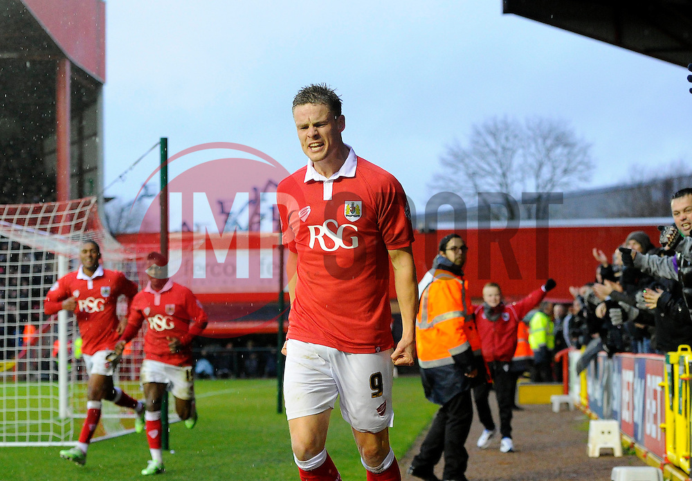 Bristol City's Matt Smith celebrates  - Photo mandatory by-line: Joe Meredith/JMP - Mobile: 07966 386802 - 26/12/2014 - SPORT - football - Bristol - Ashton Gate - Bristol City v Yeovil Town - Sky Bet League One