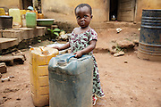 Ruth Dablé, 2 years old, the daughter of Christine Koue, at home in Katiola, Cote d'Ivoire on Friday July 12, 2013.
