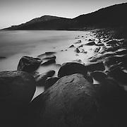 Last light falling at Granite Bay, Noosa National Park