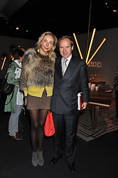 SIMON & MICHAELA DE PURY at the Private View of the Pavilion of Art & Design London 2011 held in Berkeley Square, London on 10th October 2011.