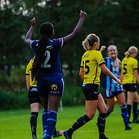 2020-07-01 | Bankeryd, Sverige: Husqvarna (12) Salha Nduwayo firar efter att ha gjort mål under matchen i Toyota Cup mellan Bankeryd och Husqvarna på Furuviks IP ( Foto av: Marcus Vilson | Swe Press Photo )<br /> <br /> Nyckelord: Bankeryd, Fotboll, Toyota Cup, Furuviks IP, Bankeryd, Husqvarna, mvbh200701