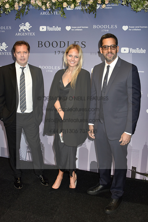 Matthew Freud, Sophie Chartres and David Blaine at the Boodles Boxing Ball, in association with Argentex and YouTube in Support of Hope and Homes for Children at Old Billingsgate London, United Kingdom - 7 Jun 2019 Photo Dominic O'Neil