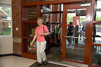 Tilton Northfield Class of 1950 reunion tour of the Union-Sanborn Elementary School Saturday, August 14, 2010.  Karen Bobotas for the Concord Monitor