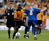 Fotball<br /> England 2004/2005<br /> Foto: SBI/Digitalsport<br /> NORWAY ONLY<br /> <br /> Wolverhampton Wanderers v Crystal Palace. Coca Cola Championship. 09/08/2005.<br /> Wolves' Seyi Olofinjana (second from L).