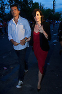 062514 Paz Vega attends The Rolling Stones show in Madrid