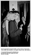 David Copperfield &amp; Claudia Schiffer  at Steve Tisch &amp;  Vanity Fair's Oscar Night Party,<br />Mortons,  Los Angeles. March 1994.  Film 94564/14<br /> <br />&copy; Copyright Photograph by Dafydd Jones<br />66 Stockwell Park Rd. London SW9 0DA<br />Tel 0171 733 0108.