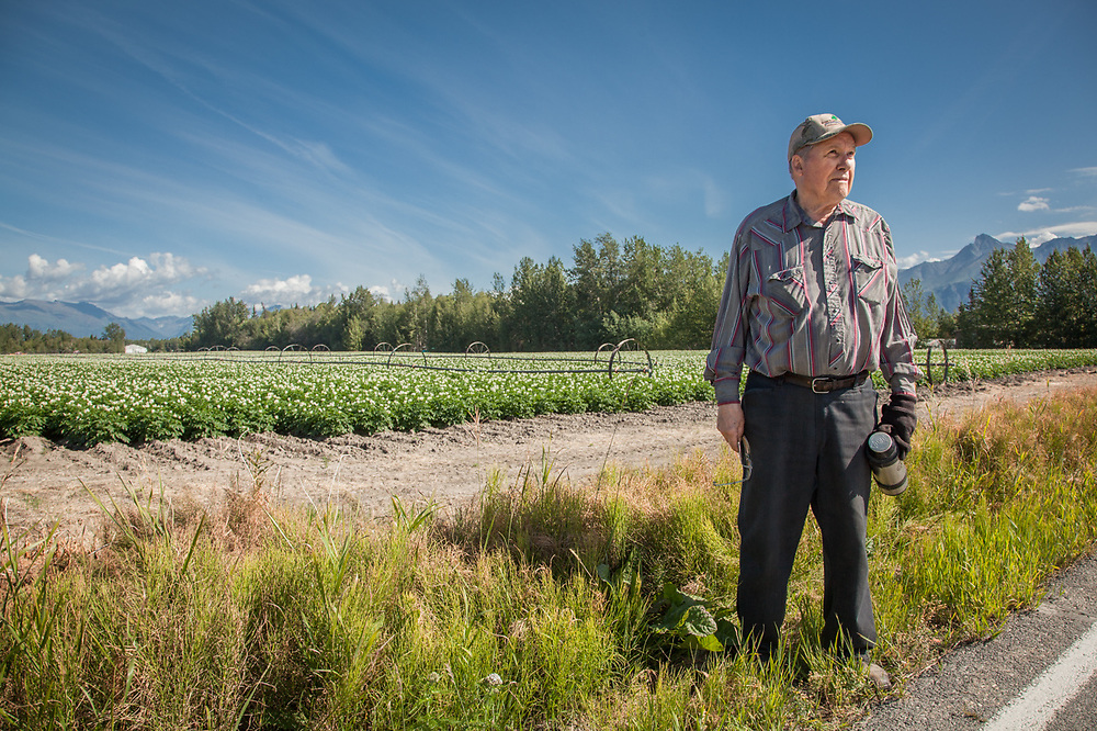 """I'm 81 and a half years old.  I was one year old when my father acquired this 40 acre plot in 1935.  I am one of the original Matanuska homesteaders.""  -Ken Loyer, Box 813, Palmer, Alaska 907-745-4518."