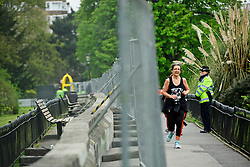 © London News Pictures. 22/04/2016. London, UK. A barrier which has been created to surround the ambassadors residence. Heightened security surrounding the residence of the US Ambassador to the United Kingdom in Regents Park, London, where the President of the United States Barak Obama is staying during his visit to the UK. Photo credit: Ben Cawthra/LNP