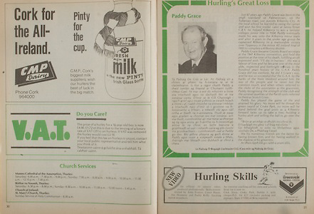 All Ireland Senior Hurling Championship - Final,.02.09.1984, 09.02.1984, 2nd September 1984,.02091984AISHCF,.Cork 3-16, Offaly 1-12,.Senior Cork v Offaly, .Minor Kilkenny v Limerick,..CMP Dairy, VAT,.Church Services,