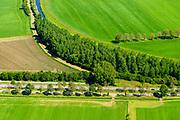 Nederland, Gelderland, Achterhoek, 29-05-2019; landelijk gebied tussen Ruurlo en Groenlo met onder andere de provinciale weg N319. In het kader van zogenaamde verkeersveiligheid dreigen veel bomen (zomereiken) langs de weg gekapt te worden.<br /> Provincial road between Ruurlo and Groenlo. Because of so-called road safety, many trees (summer oaks) are to be felled along the road.<br /> <br /> luchtfoto (toeslag op standard tarieven);<br /> aerial photo (additional fee required);<br /> copyright foto/photo Siebe Swart