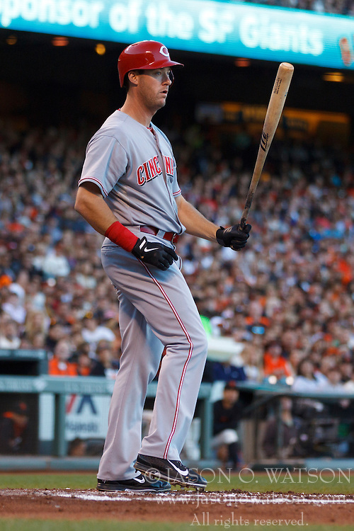 SAN FRANCISCO, CA - JUNE 28:  Ryan Ludwick #48 of the Cincinnati Reds at bat against the San Francisco Giants during the second inning at AT&T Park on June 28, 2014 in San Francisco, California. The Cincinnati Reds defeated the San Francisco Giants 7-3 in 11 innings.  (Photo by Jason O. Watson/Getty Images) *** Local Caption *** Ryan Ludwick
