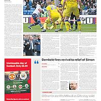 Bolton Wanderers Shola Ameobi scores the first goal against Leeds at the Macron Stadium Bolton