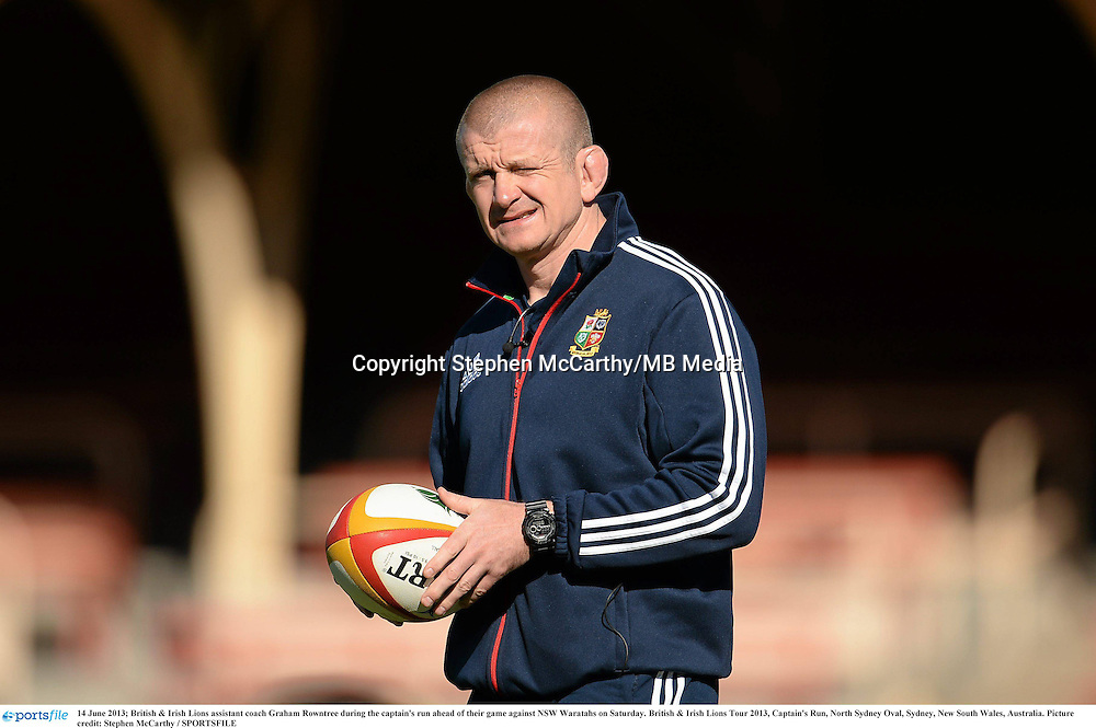 14 June 2013; British & Irish Lions assistant coach Graham Rowntree during the captain's run ahead of their game against NSW Waratahs on Saturday. British & Irish Lions Tour 2013, Captain's Run, North Sydney Oval, Sydney, New South Wales, Australia. Picture credit: Stephen McCarthy / SPORTSFILE