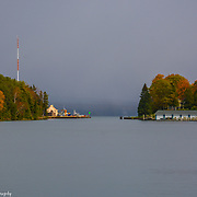 Round Lake To Lake Charlevoix As Viewed From Downtown Charlevoix