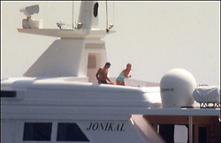 File photo of Lady Diana, Princess of Wales, with boyfriend Dodi Al Fayed spending their summer holiday in Saint-Tropez, south of France, on August 22, 1997. Princess Diana died on August 31, 1997 after suffering fatal injuries in a car crash in the Pont de l'Alma road tunnel in Paris. Her companion Dodi Fayed and driver and security guard Henri Paul were also killed in the crash. Photo by ABACAPRESS.COM  Diana of Wales Princesse Diana Princesse de Galles Diana de Galles Princess Diana of Wales Princess Diana Lady Dian Lady Diana Lady Di Princesse Diana de Galles Princess of Wales  | 594950_020 Saint-Tropez France
