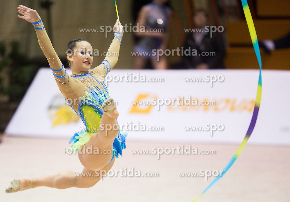 Sophia Lindtner of Austria competes during 27th MTM - International tournament in rhythmic gymnastics Ljubljana, on April 19, 2014 in Arena Krim, Ljubljana, Slovenia. Photo by Vid Ponikvar / Sportida