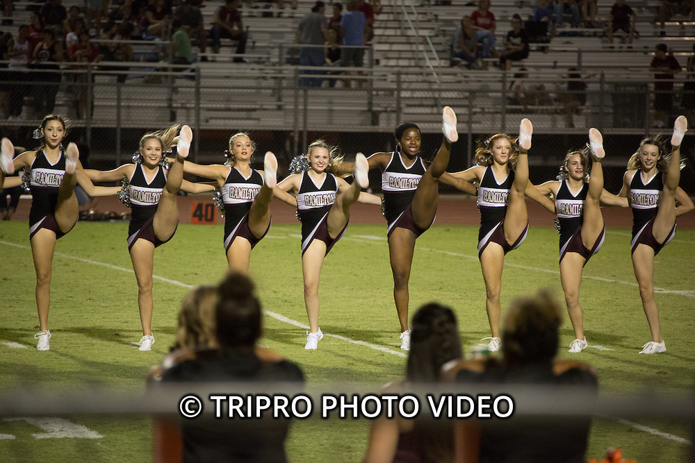 Pom squad and selected game highlights from the Hamilton Huskies football game on Friday August 19, 2016 at Hamilton High School in Chandler, AZ.