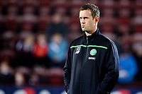 28/10/15 SCOTTISH LEAGUE CUP QUARTER-FINAL<br /> HEARTS v CELTIC<br /> TYNECASTLE - EDINBURGH<br /> Celtic manager Ronny Deila aehad of kick-off.