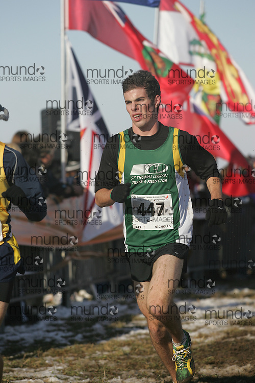 Guelph, Ontario ---29/11/08---  NATHAN NICHOLLS competes in the junior mens race at the 2008 AGSI Canadian Cross Country Championships in Guelph, Ontario, November 29, 2008..Sean Burges Mundo Sport Images