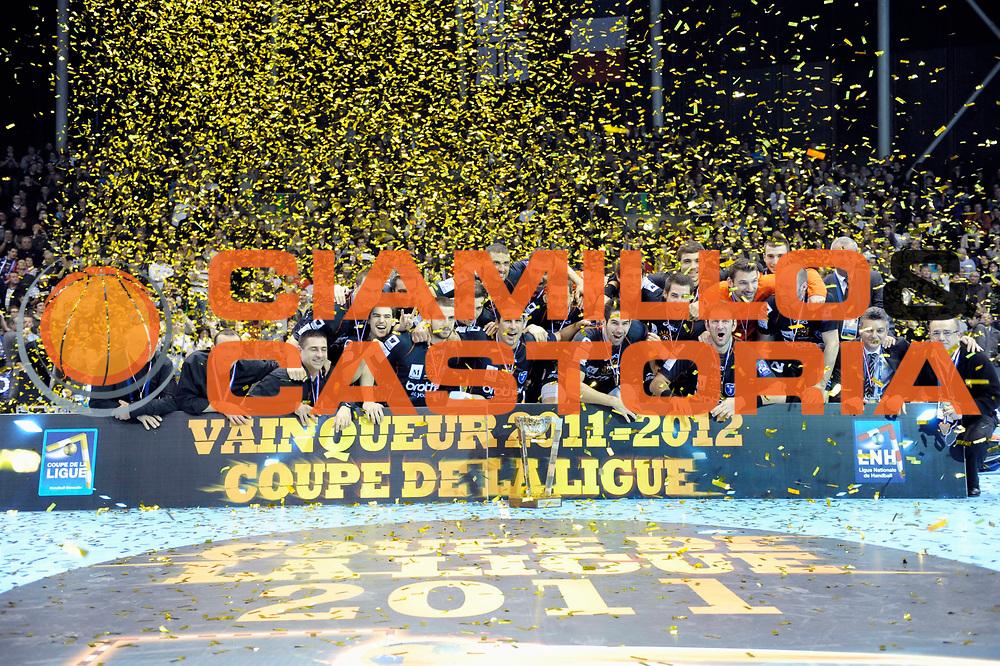 DESCRIZIONE : France Hand D1 Coupe de la Ligue  Finale a Nantes Trophee<br /> GIOCATORE : <br /> SQUADRA : Montpellier<br /> EVENTO : FRANCE Hand D1 Coupe de la Ligue Trophee<br /> GARA : Montpellier St Raphael<br /> DATA : 11/12/2011<br /> CATEGORIA : Hand D1 <br /> SPORT : Handball<br /> AUTORE : JF Molliere <br /> Galleria : France Hand 2011-2012 Action<br /> Fotonotizia : France Hand D1 Coupe de la Ligue Finale a Nantes<br /> Predefinita :