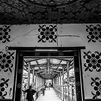 Traditional bridge, Bhutan.