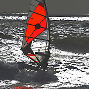 Silver light on Cornish water with good winds.