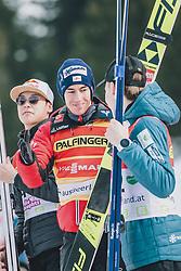 16.02.2020, Kulm, Bad Mitterndorf, AUT, FIS Ski Flug Weltcup, Kulm, Herren, Siegerehrung, im Bild 1. Platz Stefan Kraft (AUT) // Winner Stefan Kraft of Austria during the winner ceremony for the men's FIS Ski Flying World Cup at the Kulm in Bad Mitterndorf, Austria on 2020/02/16. EXPA Pictures © 2020, PhotoCredit: EXPA/ Dominik Angerer