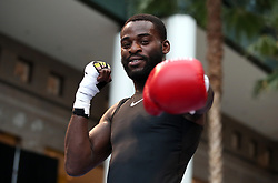 Joshua Buatsi during the public work-out at the Brookfield Place, New York.