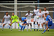 Peterborough United forward George Cooper (19) with a free kick during the Pre-Season Friendly match between Peterborough United and Bolton Wanderers at London Road, Peterborough, England on 28 July 2018. Picture by Nigel Cole.