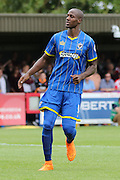 Tom Elliott during the Sky Bet League 2 match between AFC Wimbledon and Exeter City at the Cherry Red Records Stadium, Kingston, England on 29 August 2015. Photo by Stuart Butcher.