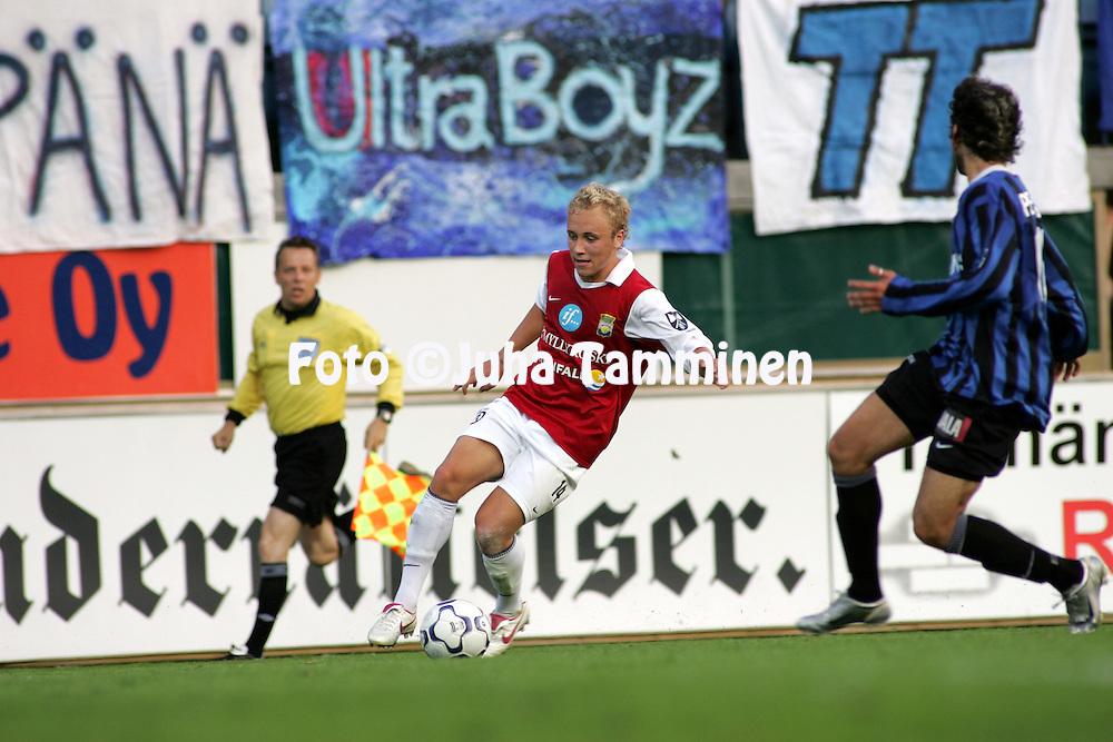 21.07.2005, Veritas Stadion, Turku, Finland..Veikkausliiga 2005 / Finnish League 2005.FC Inter Turku v Myllykosken Pallo-47.Eetu Muinonen - MyPa.©Juha Tamminen.....ARK:k