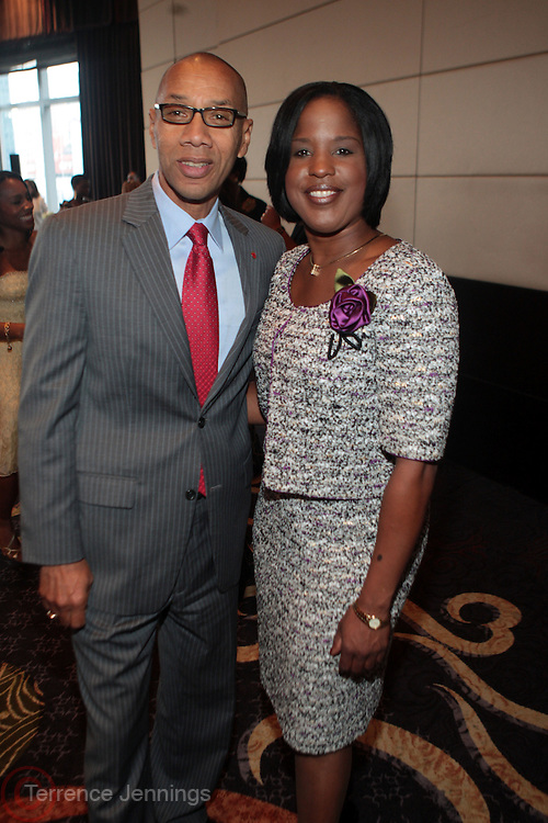 13 September 2010- New York, NY- l to r; Deputy Mayor Dennis Walcott and Rosyln Rock, Chairperson Board of Directors for the NAACP at Essence Magazine's Fierce & Fabulous Awards Luncheon honoring exceptional Women who are making a difference in the world sponsored by Buick and Clinique held at The Mandarian Oriental on September 13, 2010 in New York City. Photo Credit: Terrence Jennings