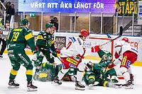 2020-03-10   Umeå, Sverige:Tung trafik framför Björklöven (35) Joe Cannata  under matchen i HA Finalserien mellan Björklöven och MoDo i A3 Arena ( Foto av: Michael Lundström   Swe Press Photo )<br /> <br /> Nyckelord: Umeå, Hockey, HA Finalserien, A3 Arena, Björklöven, MoDo, mlbm200310