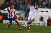 31.01.2013 SPAIN - Copa del Rey 12/13 Matchday 1/4  match played between Atletico de Madrid vs Sevilla Futbol Club (2-1) at Vicente Calderon stadium. The picture show Jesus Navas Gonzalez (Spanish Midfielder of Sevilla F.C.)