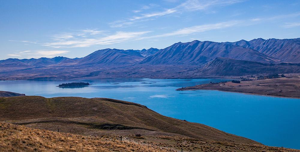Lake Tekapo form the Mt John University Observatory