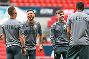 Mateusz Klich of Leeds United (43) arrives at the ground during the EFL Sky Bet Championship match between Bristol City and Leeds United at Ashton Gate, Bristol, England on 4 August 2019.