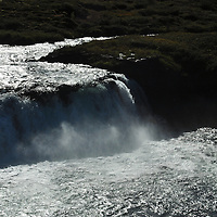 Falls on popular salmon fishing river.