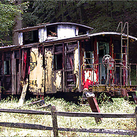 Retired Caboose in Davis West Virginia