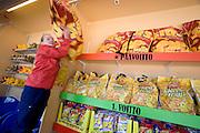 Linnanmäki (Borgbacken) Luna Park. Betting to win huge potato chip sacks.