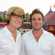 NLD/Amsterdam/20120813 - Premiere Sensations van Circus Herman Renz, Matthijs Vrieze en partner Niels